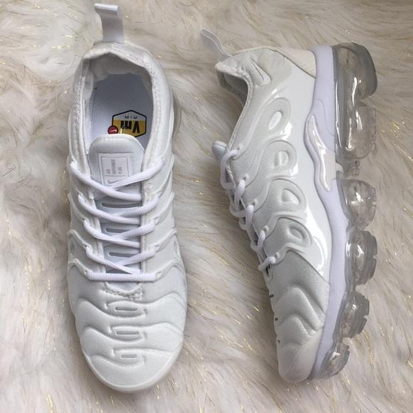 reputable site cca5b 94c8b SALE🔥 Nike Triple White VaporMax Plus Size 8.5 WM